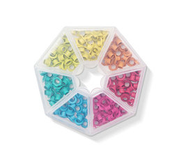 We R Memory Keepers Storage Bright Crop-A-Dile Eyelets and Case (141pcs) (660384)