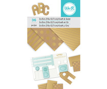 We R Memory Keepers Kraft and Gold Foil 3x5 Inch Paper Pad (660891)