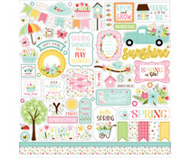 Echo Park Welcome Spring 12x12 Inch Element Sticker (WES235014)