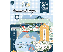 Echo Park Welcome Baby Boy Frames & Tags (WBB234025)