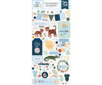 Echo Park Welcome Baby Boy 6x13 Inch Chipboard Accents (WBB234021)