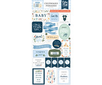 Echo Park Welcome Baby Boy 6x13 Inch Chipboard Phrases (WBB234022)