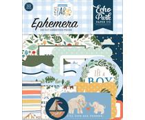 Echo Park Welcome Baby Boy Ephemera (WBB234024)