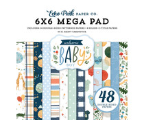 Echo Park Welcome Baby Boy 6X6 Inch Cardmakers Mega Pad (WBB234031)