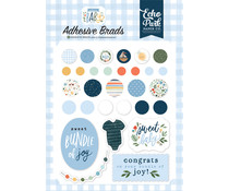 Echo Park Welcome Baby Boy Adhesive Brads (WBB234020)