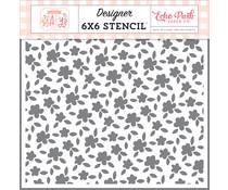 Echo Park Petite Floral 6x6 Inch Stencil (WBG233033)