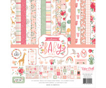 Echo Park Welcome Baby Girl 12x12 Inch Collection Kit (WBG233016)