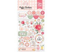 Echo Park Welcome Baby Girl Puffy Stickers (WBG233066)