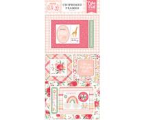 Echo Park Welcome Baby Girl 6x13 Inch Chipboard Frames (WBG233065)