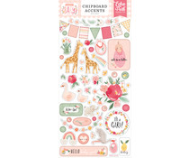 Echo Park Welcome Baby Girl 6x13 Inch Chipboard Accents (WBG233021)
