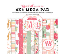 Echo Park Welcome Baby Girl 6X6 Inch Cardmakers Mega Pad (WBG233031)