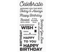 My Favorite Things Big Birthday Wishes Clear Stamps (CS-541)