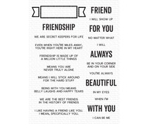 My Favorite Things What Friendship Means Clear Stamps (CS-543)