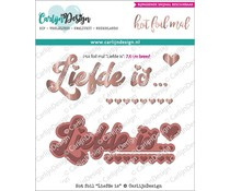 CarlijnDesign Hot Foil Liefde Is (CDHF-0005)