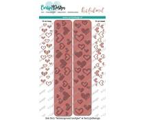 CarlijnDesign Hot Foil Achtergrond Hartjes (CDHF-0006)