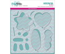 CarlijnDesign Stencil Ballonnen 2 (CDSC-0004)