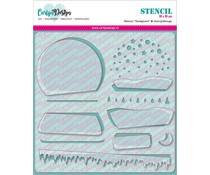 CarlijnDesign Stencil Snowglobe (CDST-0007)