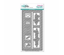 CarlijnDesign Snijmallen DL Slimline Kaart 3 (CDSN-0059)