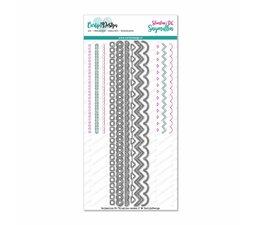 CarlijnDesign Snijmallen Slimline Randen 1 (CDSN-0060)