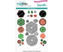 CarlijnDesign Snijmallen Kerstpost (CDSN-0071)