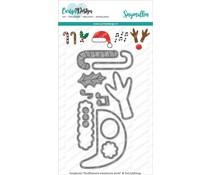CarlijnDesign Snijmallen Knuffelkaart Accessoires Kerst (CDSN-0080)