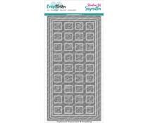 CarlijnDesign Snijmallen DL Slimline Kaart 4 Chocolade Alfabet (CDSN-0082)