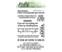Picket Fence Studios Driving the Karma Bus 4x6 Inch Clear Stamps (S-184)