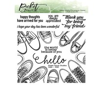 Picket Fence Studios Hello 6x6 Inch Clear Stamps (S-183)