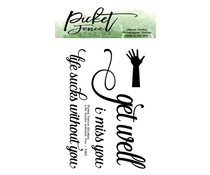 Picket Fence Studios Life Sucks without You 2x3 Inch Clear Stamps (S-182)