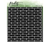 Picket Fence Studios English Brick Wall 6x6 Inch Stencils (SC-238)