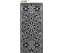 Picket Fence Studios Slim Line Center Flower 4x10 Inch Stencils (SC-235)