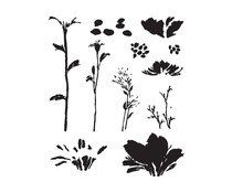 Spellbinders Layered Wildflowers Clear Stamps (STP-028)