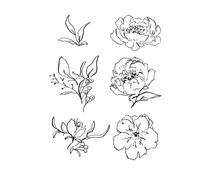 Spellbinders Beauty in Bloom Clear Stamps (STP-032)