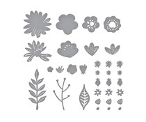 Spellbinders Simply Perfect Layered Blooms Etched Dies (S4-1091)