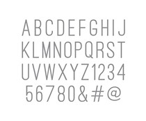 Spellbinders Simply Perfect Alphabet Etched Dies (S5-442)