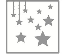 Memory Place Twinkle Star Layout Chipboard (MP-58646)