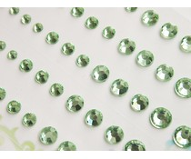 Memory Place Light Green Rhinestone (MP-59133)