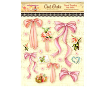 Memory Place Forest Friends 2 Pink Ribbon Cut Outs (MP-58841)