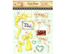 Memory Place Forest Friends 2 Yellow Ribbon Cut Outs (MP-58842)