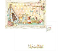 Memory Place Forest Friends Tea Time Postcard (MP-58987)