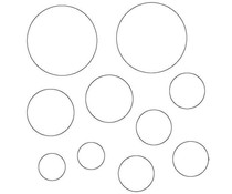 Memory Place Circles Clear Embellishments (MP-58637)