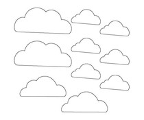Memory Place Clouds Clear Embellishments (MP-58636)