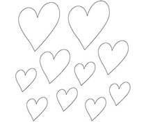 Memory Place Hearts Clear Embellishments (MP-58639)