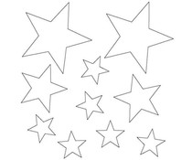 Memory Place Stars Clear Embellishments (MP-58640)
