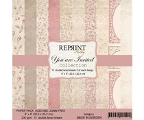 Reprint You are Invited Collection 8x8 Inch Paper Pack (RPM015)