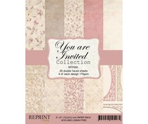 Reprint You are Invited Collection 6x6 Inch Paper Pack (RPP050)