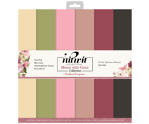 Crafter's Companion Bloom with Grace 12x12 Inch Card Pad (NIT-BWG-CARD12)