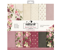 Crafter's Companion Bloom with Grace 12x12 Inch Patterned Paper Pad (NIT-BWG-PAD12)
