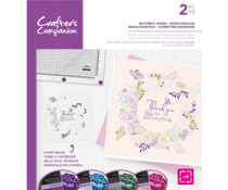 Crafter's Companion Butterfly Roses Rotating Clear Stamps (CC-STP-BUTROS)
