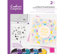 Crafter's Companion Butterfly Wishes Rotating Clear Stamps (CC-STP-BUTWIS)